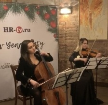String duet Verona performed an acoustic program at the festive event New Year -party HR-tv.ru